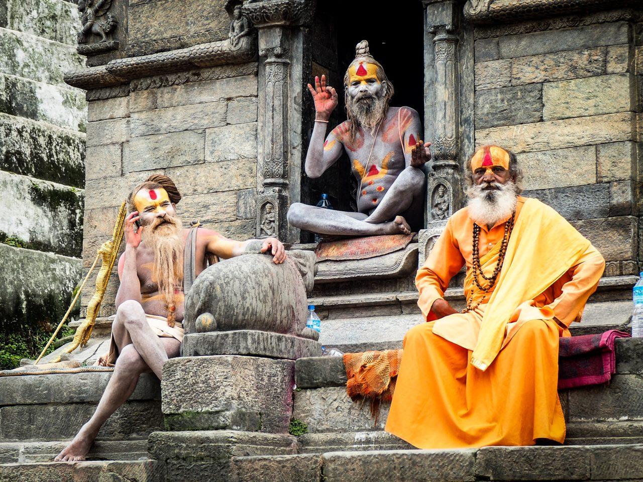 インドのヨガグルジ3人