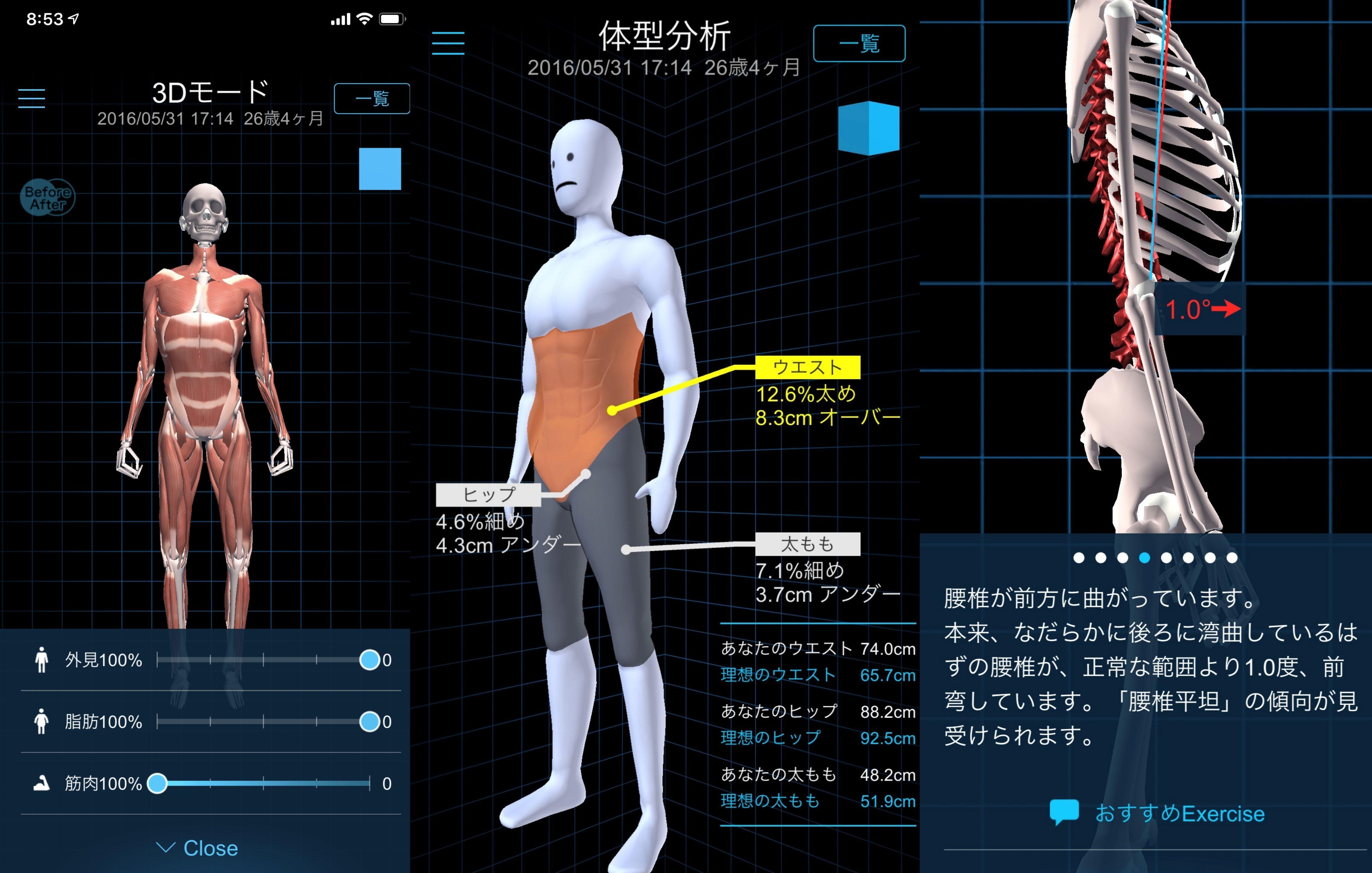 人体スキャンの映像