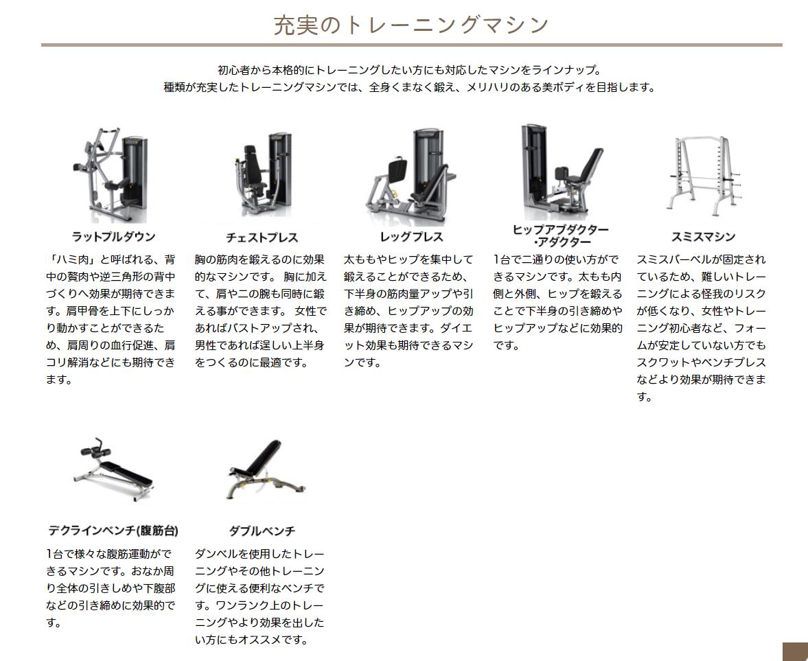 ウェイトトレーニング機器の紹介