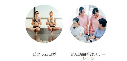 ヨガワークス運営の株式会社ぜん系列の看護グループ
