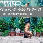【セカンドシリーズ】アシュタンガヨガのポーズの順番と名前★インターミディエートのア-サナは?