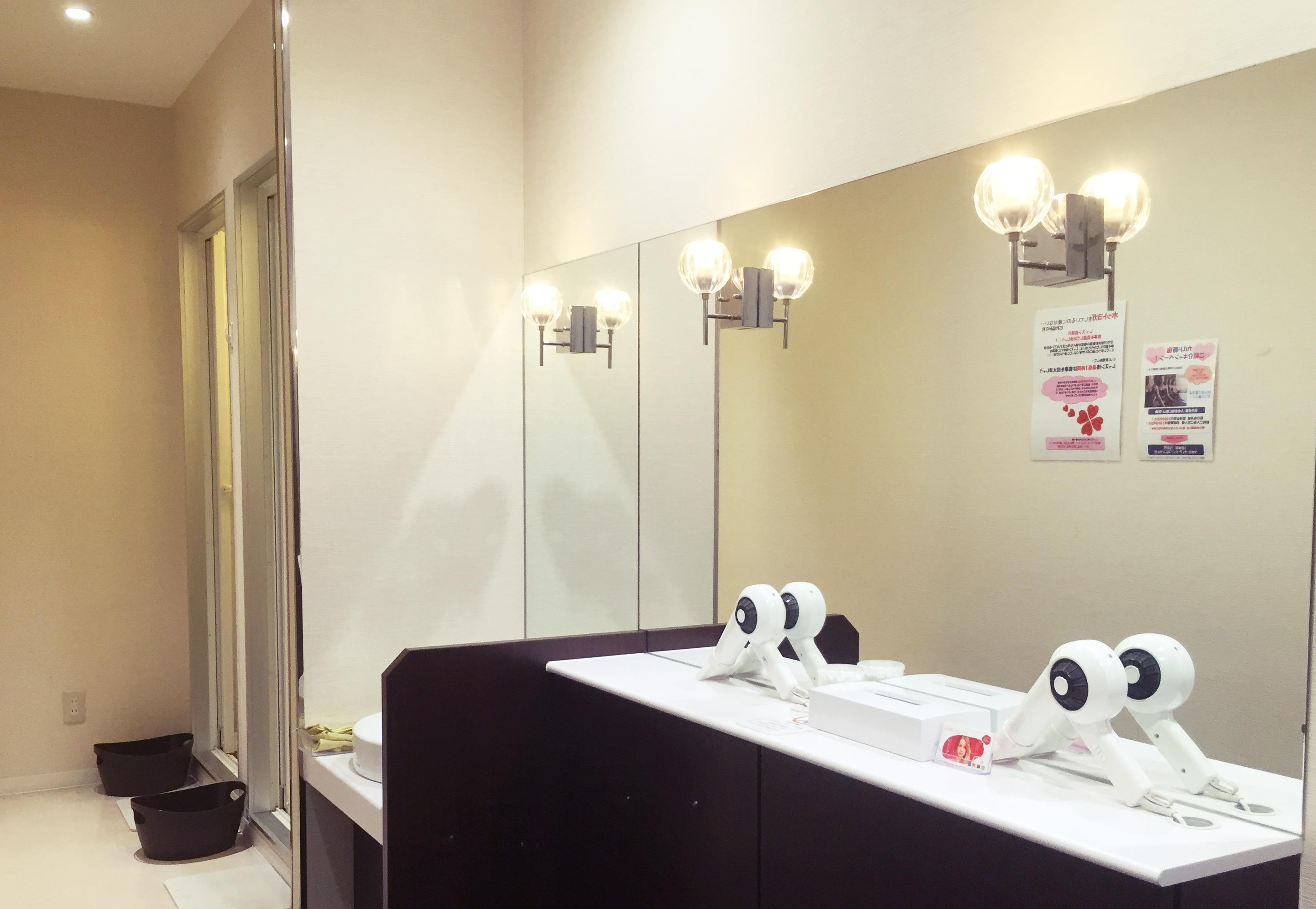 ホットヨガカルドのシャワールーム