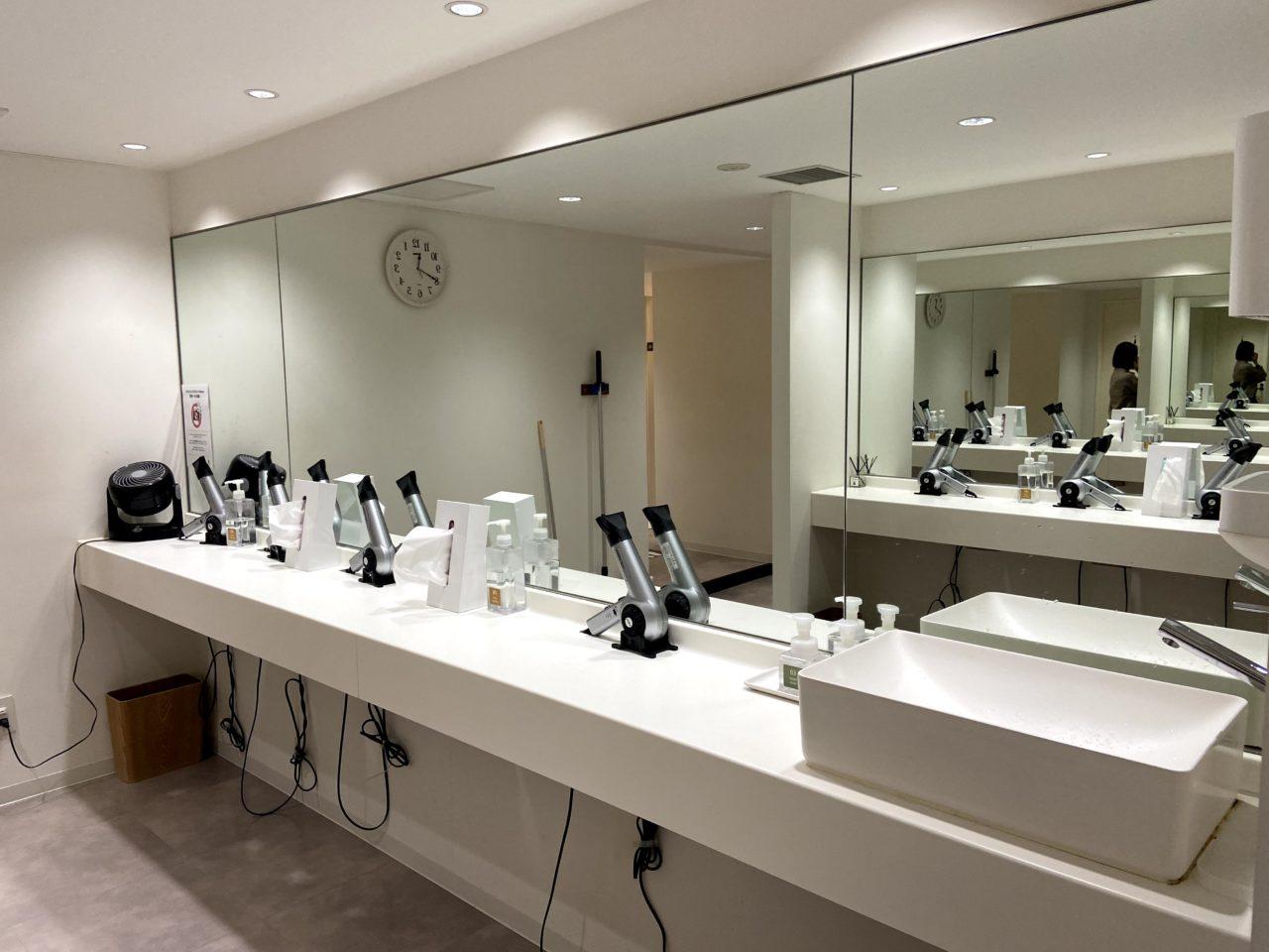 CYCLE STUDIOR渋谷の洗面台
