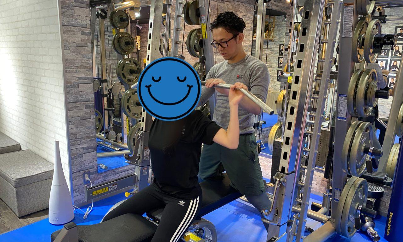 マシンを使ったトレーニング
