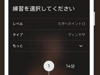 ダウンドッグアプリの設定画面