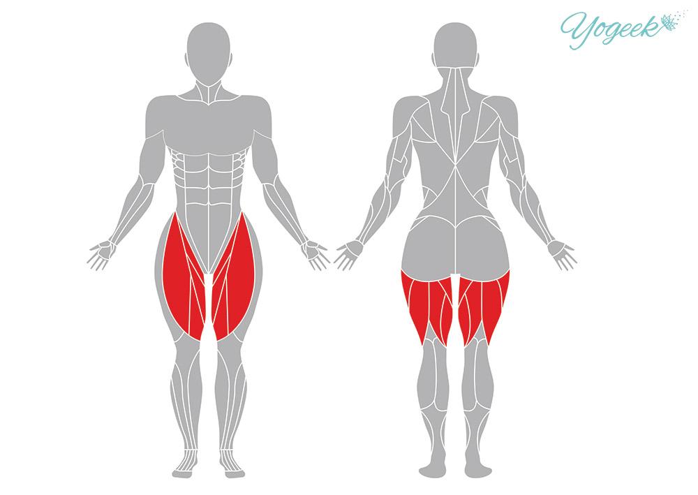 がっせきのポーズの効果のある身体部位