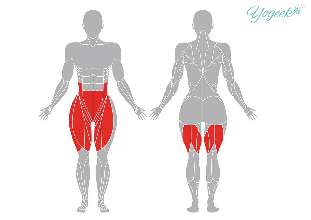 三日月のポーズの効果的な身体部位