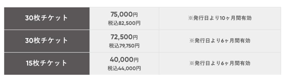 zen placeチケット料金