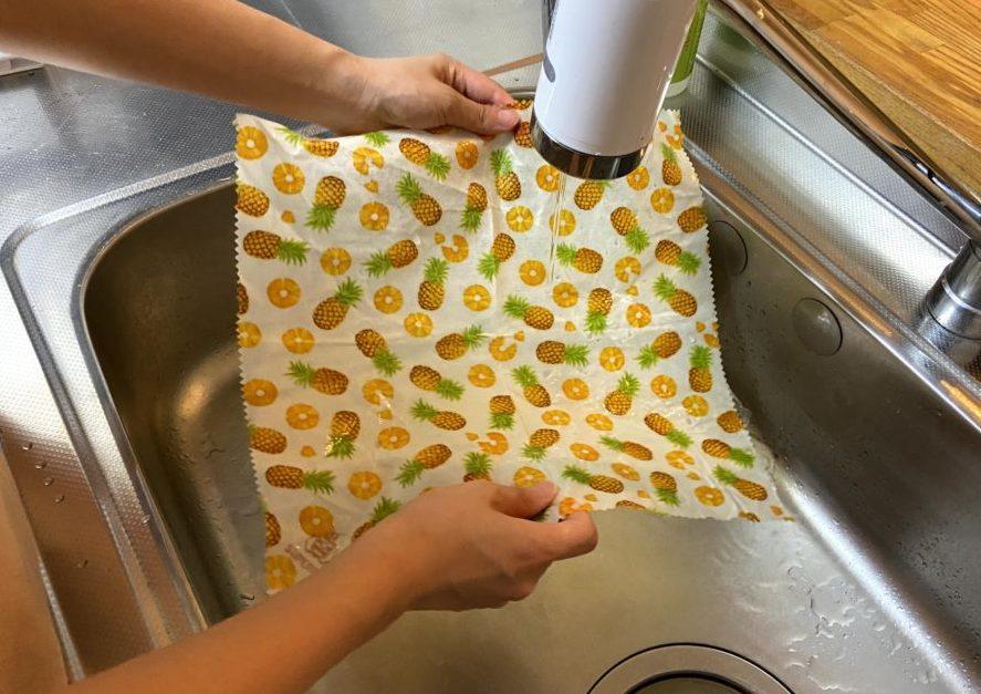 蜜蝋ラップを水で洗うやり方