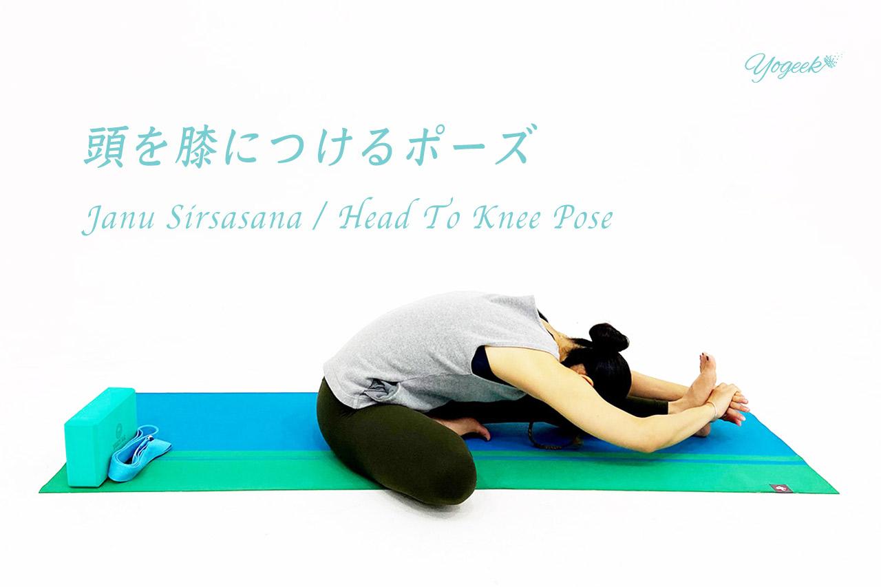 ジャーヌシールシャーサナ(頭を膝につけるポーズ)の効果とやり方のコツ