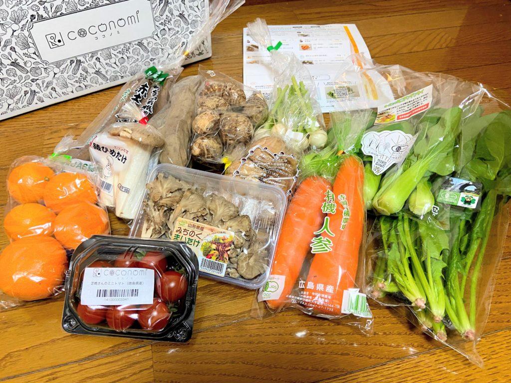 宅配野菜のココノミのお試しセット