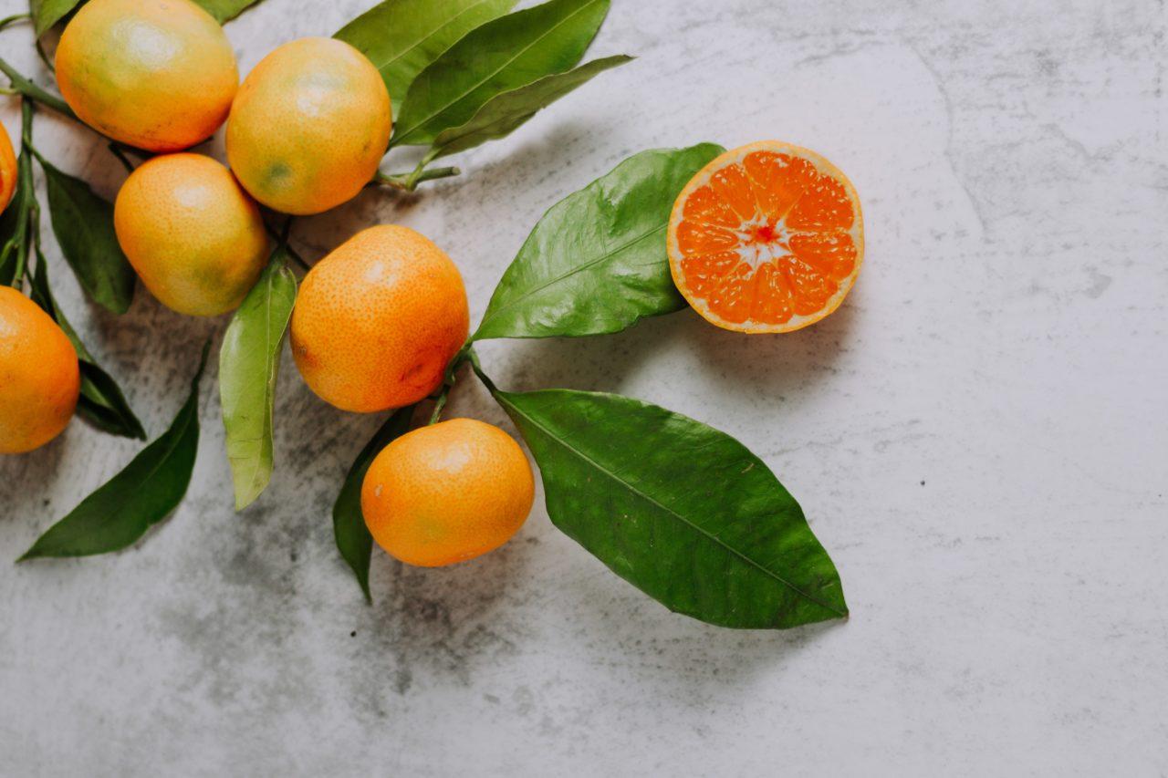オレンジの枝と実