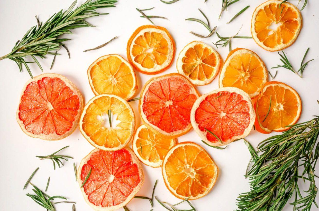 オレンジとハーブ