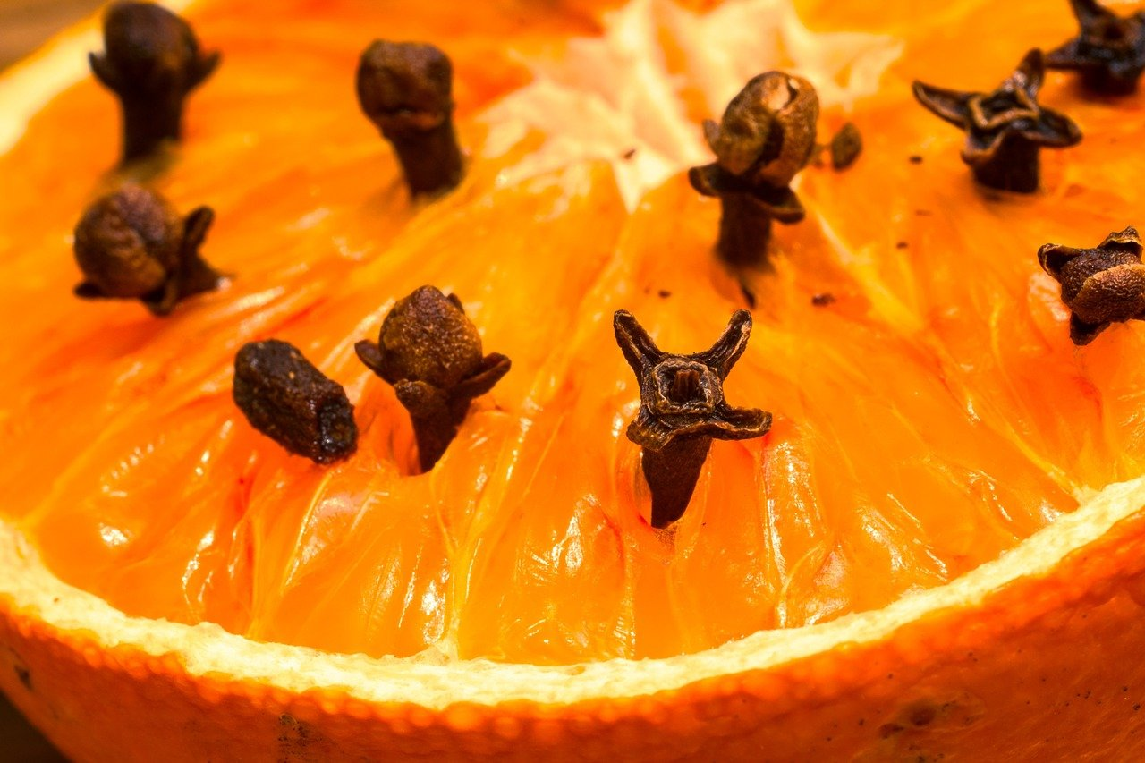 オレンジに刺したクローブ