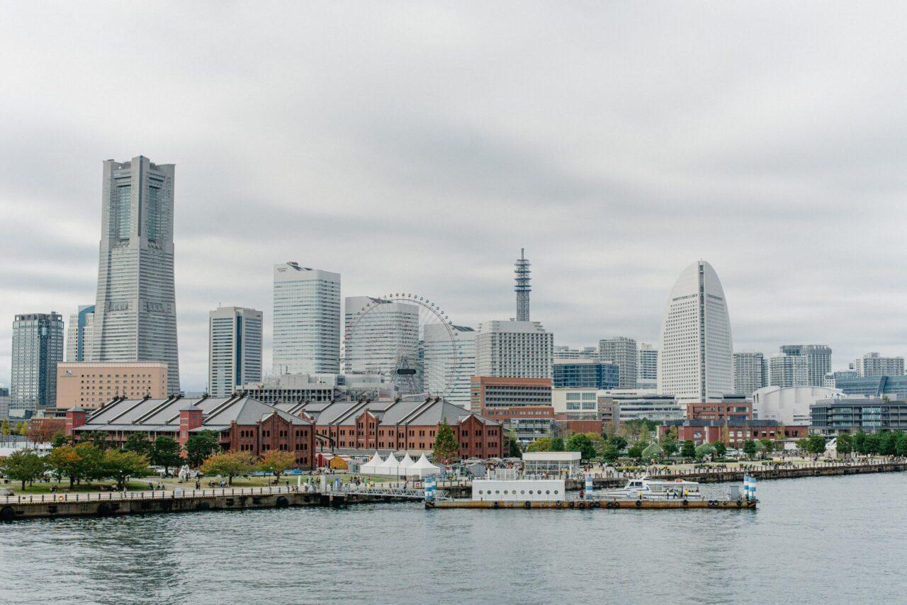 神奈川県横浜の港の風景